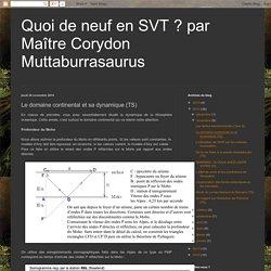 Le domaine continental et sa dynamique (TS)