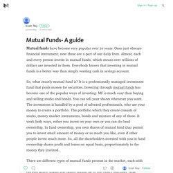 Mutual Funds- A guide