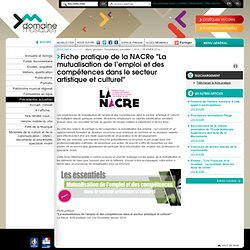 """- Fiche pratique de la NACRe """"La mutualisation de l'emploi et des compétences dans le secteur artistique et culturel"""""""
