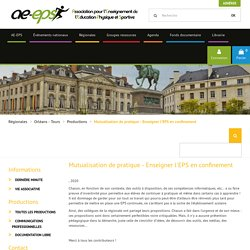 AEEPS : Enseigner l'EPS en confinement