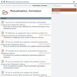 Mutualisation : Maintenance des véhicules et des matériels EN