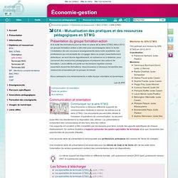 GFA - Mutualisation des pratiques et des ressources pédagogiques en STMG