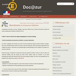 Mutualisation et ressources tablettes