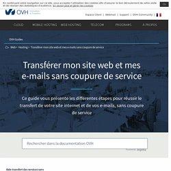 transférer mon site web et mes e-mails sans coupure de service