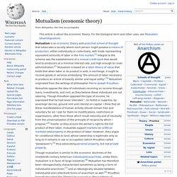 Mutualism (economic theory)