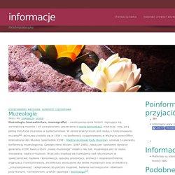 Muzeologia, info24.org.pl
