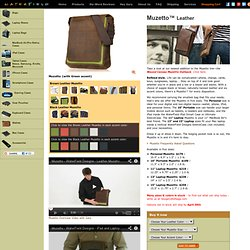 Muzetto™ Leather Bags - Laptop Bag - Man Bag - Personal Bag - SFBags - WaterField Designs