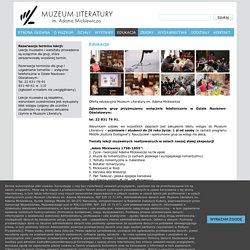 Muzeum Literatury » Edukacja