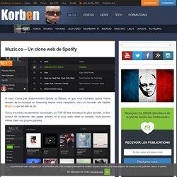 Muzic.co - Un clone web de Spotify