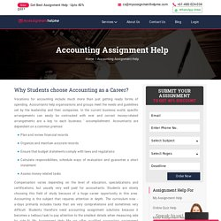 My Assignment Help Me - Accounting Assignment Help