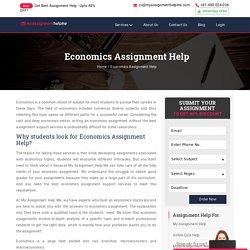 My Assignment Help Me - Economics Assignment Help