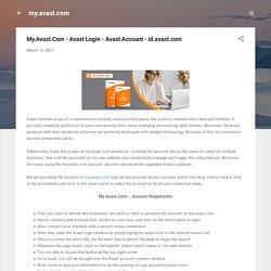 My.Avast.Com - Avast Login - Avast Account - id.avast.com