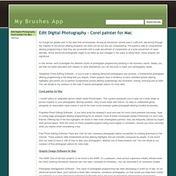 Edit Digital Photography - Corel painter for Mac