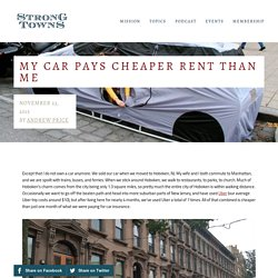 My Car Pays Cheaper Rent Than Me