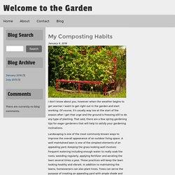 My Composting Habits