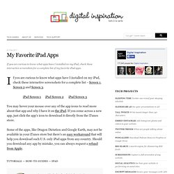 My Favorite iPad Apps
