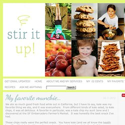 My favorite munchie… » Stir It Up!