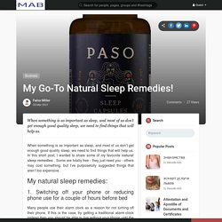 My Go-To Natural Sleep Remedies!