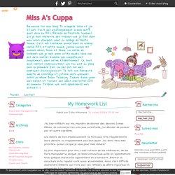 My Homework List - Miss A's Cuppa