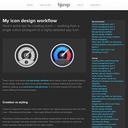 My icon design workflow