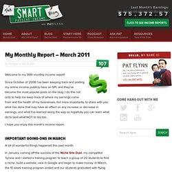 My Monthly Report – March 2011
