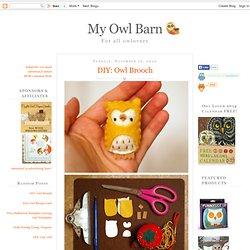 DIY: Owl Brooch