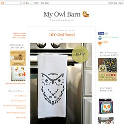 DIY: Owl Towel