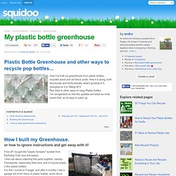 My plastic bottle greenhouse