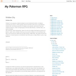 My Pokemon RPG: Viridian City