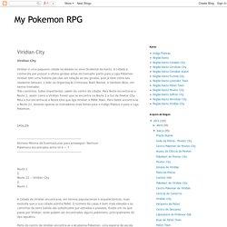 My Pokemon RPG: Viridian City