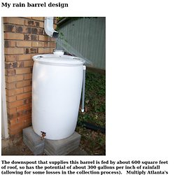 My rain barrel design