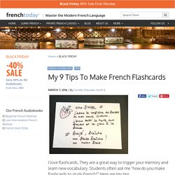 My 9 Tips To Make French Flashcards