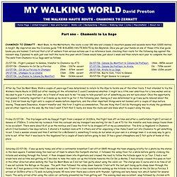 MY WALKING WORLD David Preston