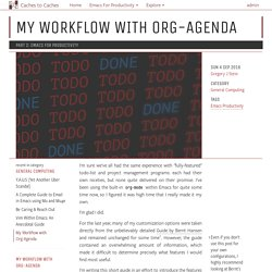 My Workflow with Org-Agenda