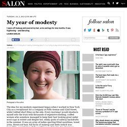 My year of modesty