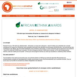 2-11 déc. 2015, African Rethink Awards à Paris