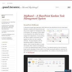 MyBoard – A SharePoint Kanban Task Management System