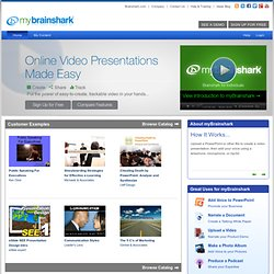 myBrainshark - Add your voice to presentations, share online, and track viewing