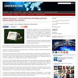 CREAN Mycobond ™ HULE ESPUMA DE EMBALAJE QUE CRECE COMO UNA PLANTA - UNIVERSITAM