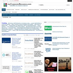 myCorporateResource.com--Empowering the Corporate Community - Home