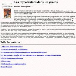 Les mycotoxines dans les grains