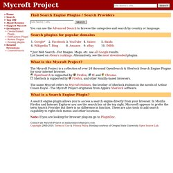 Mycroft: Search Engine Plugins