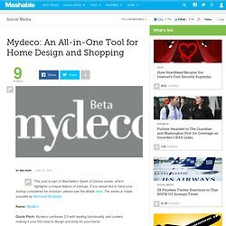 Mydeco: An All-in-One Tool for Home Design and Shopping