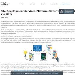 Site Development Services-Platform Gives Improved Online Visibility