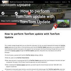 MyDrive Connect-TomTom Home - How to perform TomTom update with TomTom Update