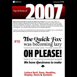 Top fonts of 2007