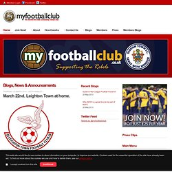MyFootballClub.co.uk - The world's local football club