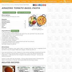 Amazing Tomato Basil Pasta