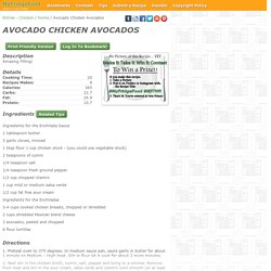 - Avocado Chicken Avocados