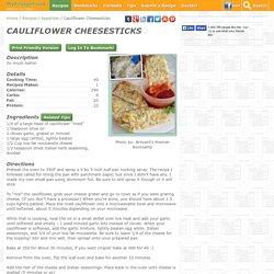 Cauliflower Cheesesticks